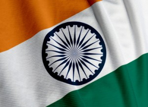 Indian Flag Closeup