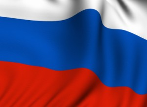 Rendered Russian Flag